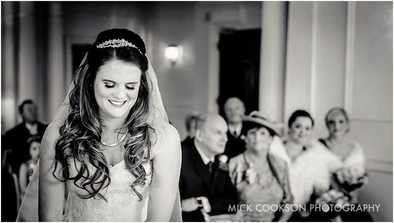 smiling bride in the ribble valley