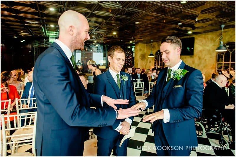 nervous groomsmen