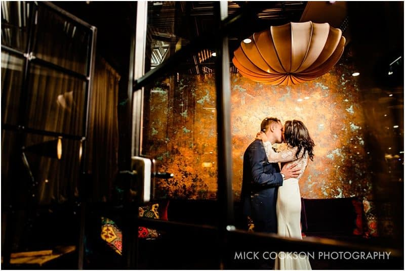 stunning bride and groom portrait at on the 7th
