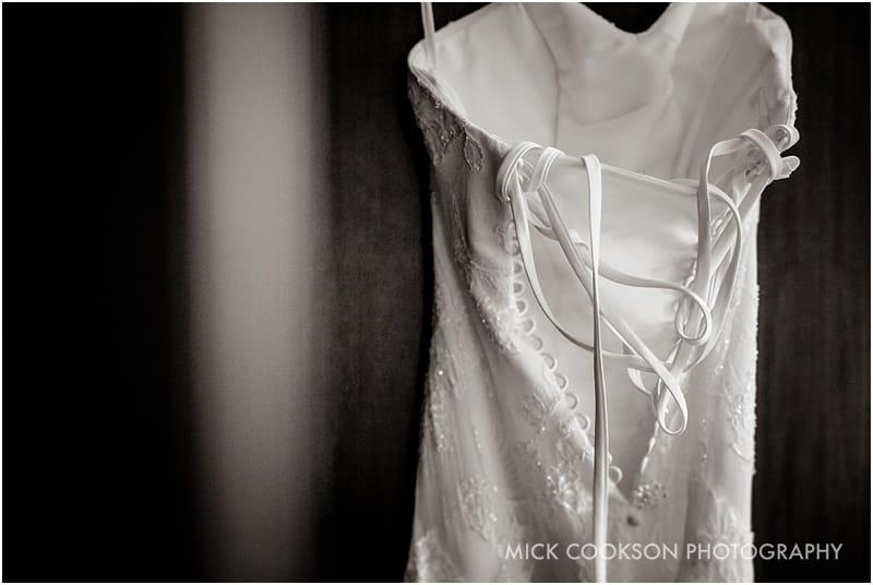 wedding dress in mono