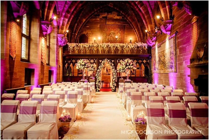 peckforton castle set for a wedding