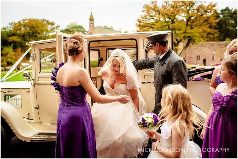 bride at peckforton castle