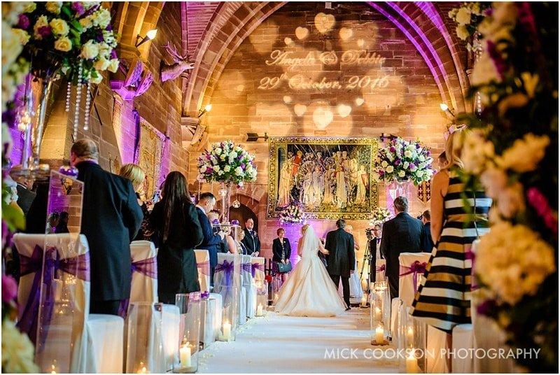 same sex wedding at peckforton castle