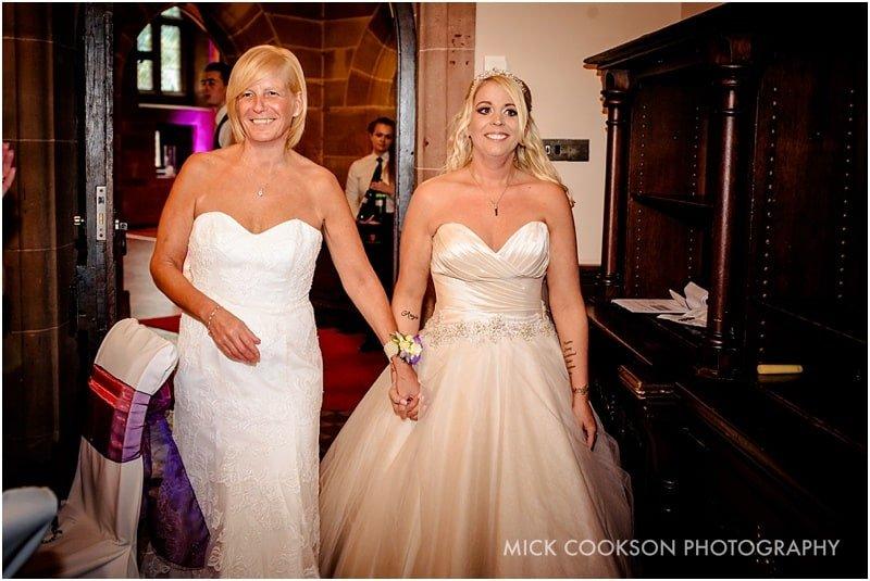 same sex weddings at peckforton castle