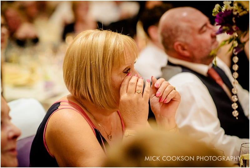 emotional aunt at a same sex wedding