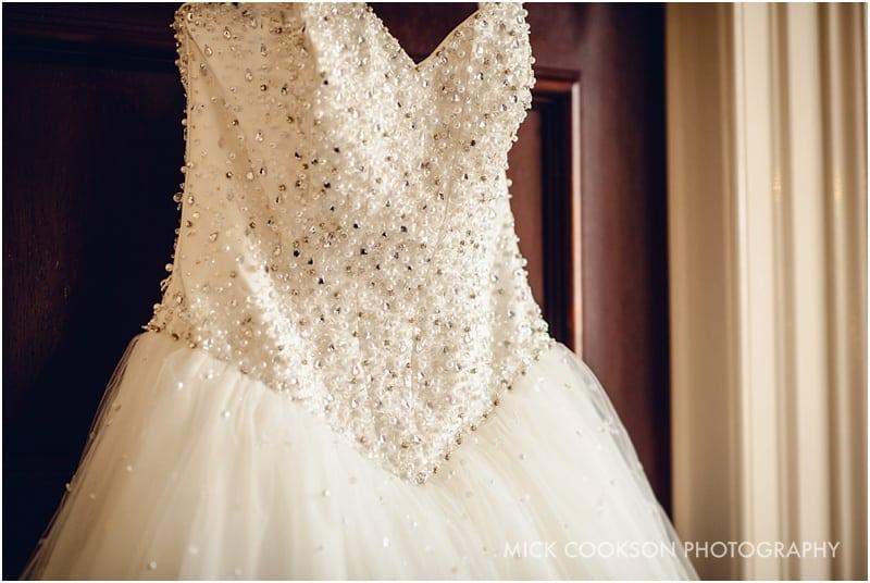 wedding dress at shrigley hall