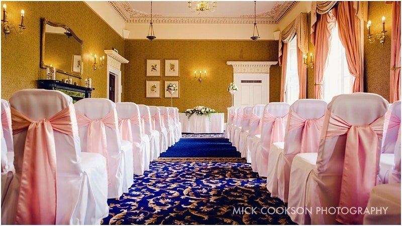 shrigley hall wedding ceremony room