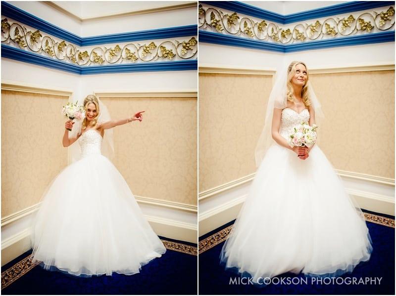 bride having fun at shrigley hall