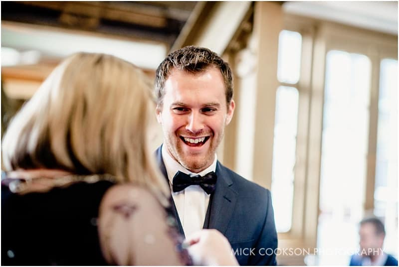 30 james street wedding guests laughing