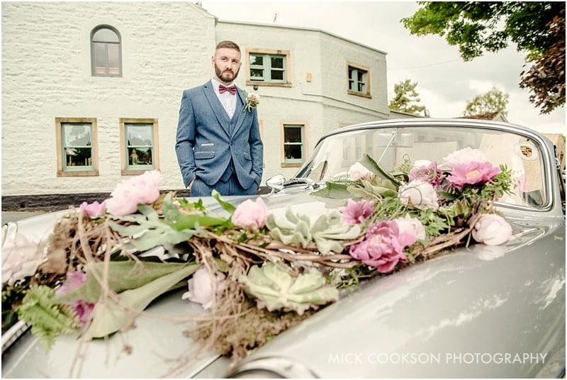 groom with his porsche 356