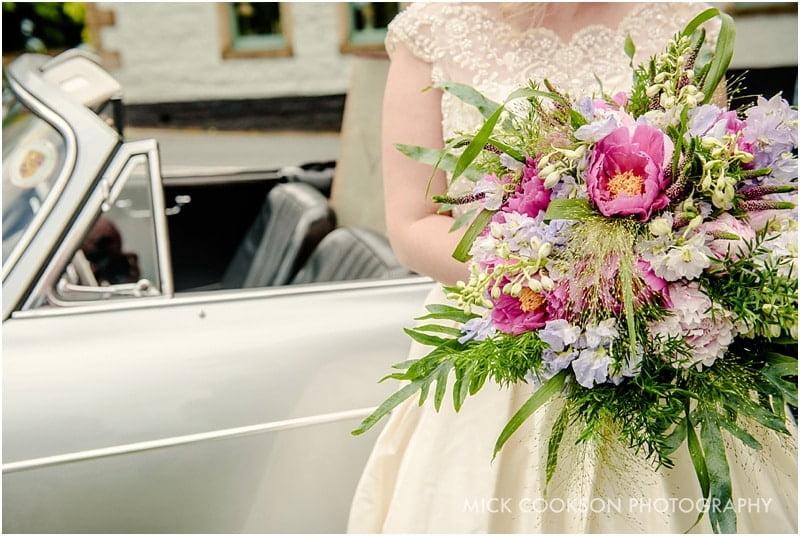bride bouquet at a spread eagle wedding