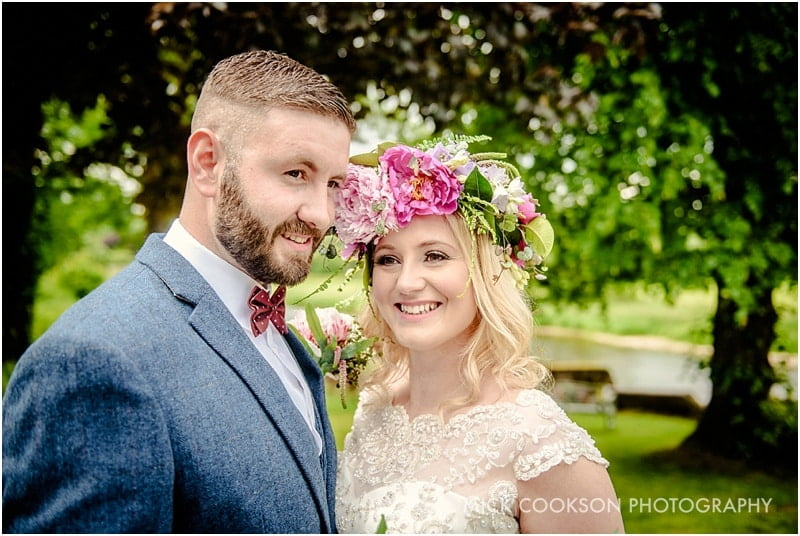 bride and groom at the spread eagle sawley