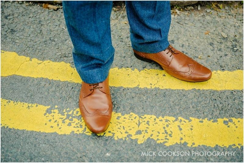 groom brown wedding shoes