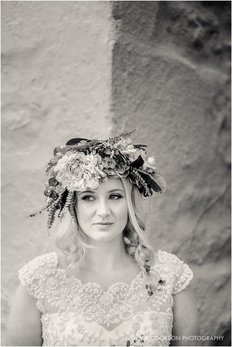 stunning bride in mono in lancashire