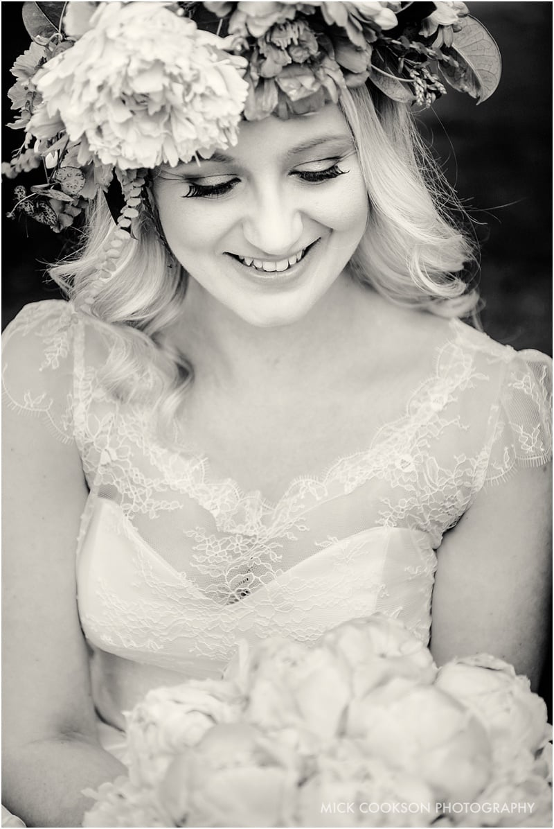 stunning bride at the spread eagle sawley