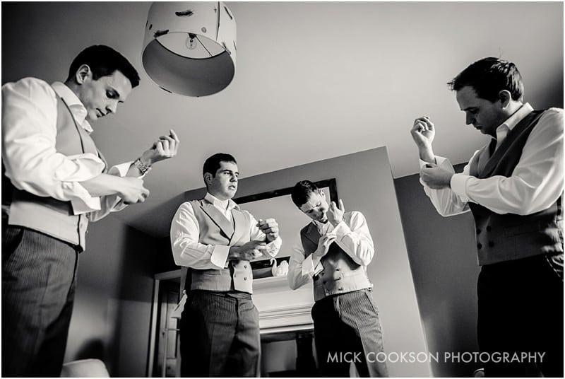 groomsmen with their cufflinks