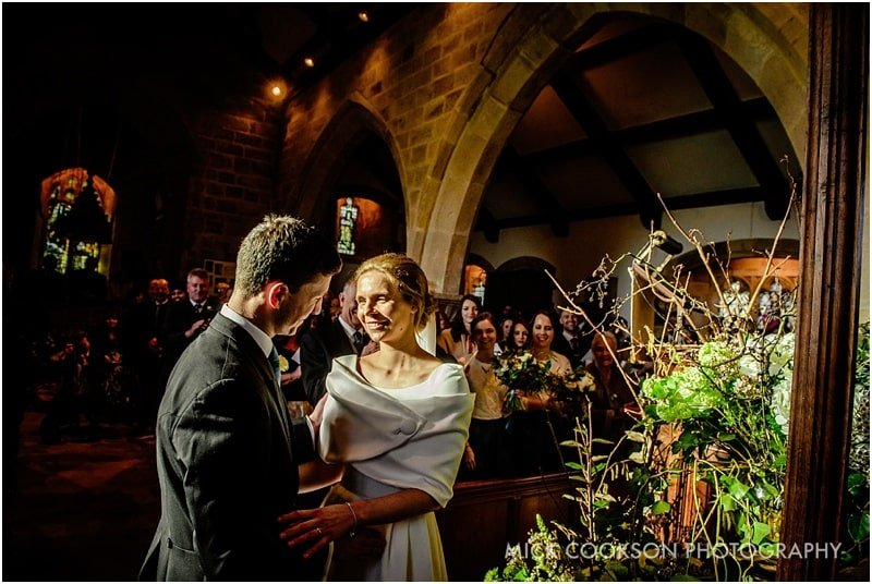 newlyweds at st james the less church lancashire