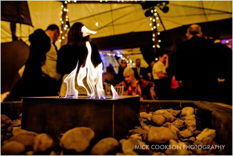gas burner at a tipi wedding