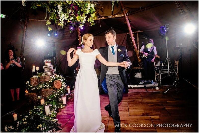 first dance at a tipi wedding