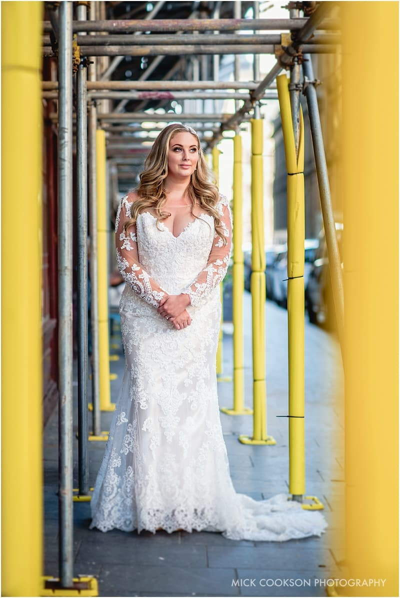bride portrait in liverpool