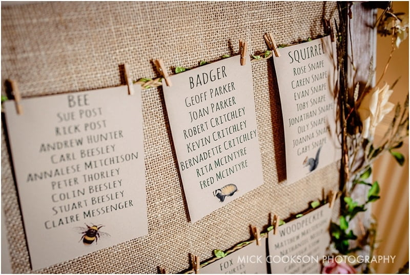 beeston manor wedding table plan