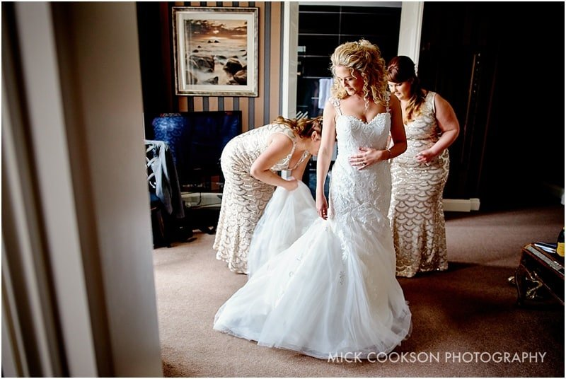 bridal preparations at eaves hall