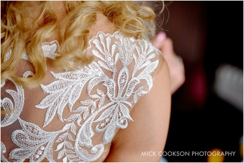 wedding dress lace detail