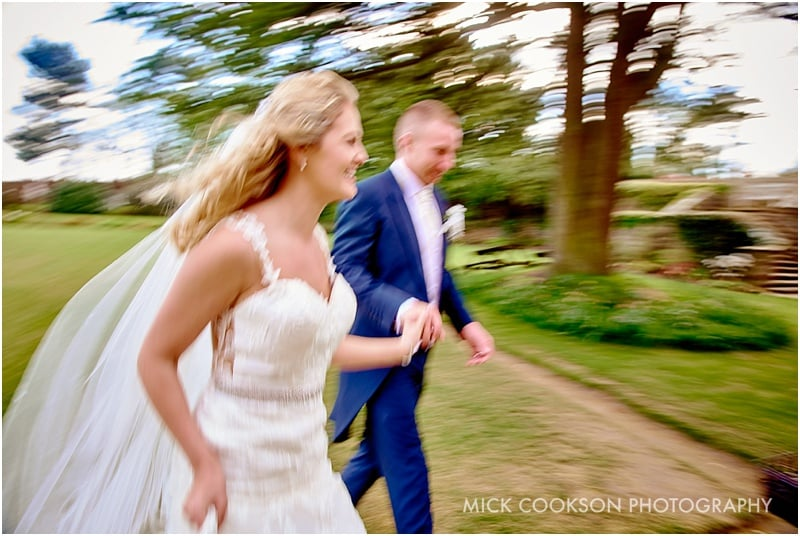 artistic blurred bride and groom shot