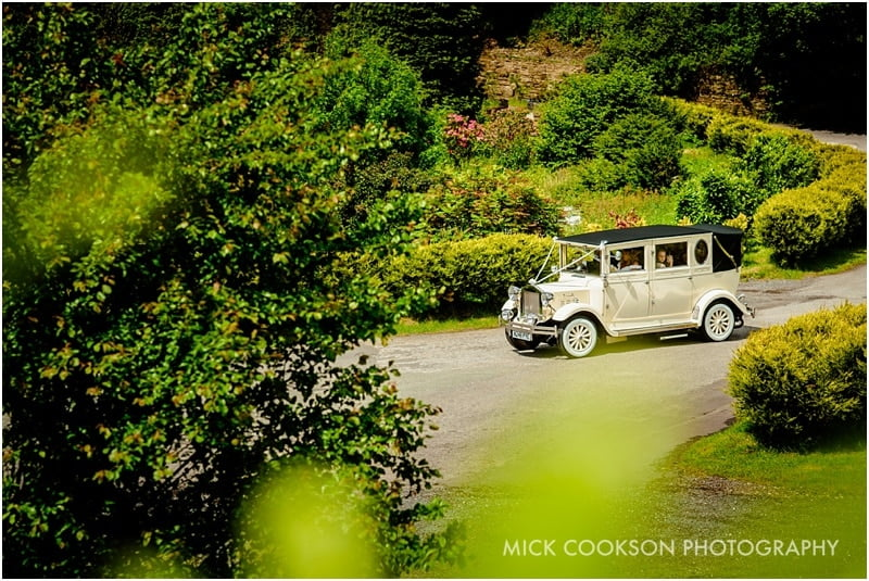horgans wedding car at the fisherman's retreat