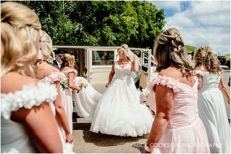 arrival of the bride at the fisherman's retreat