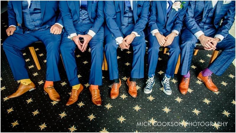 blue suits brown shoes
