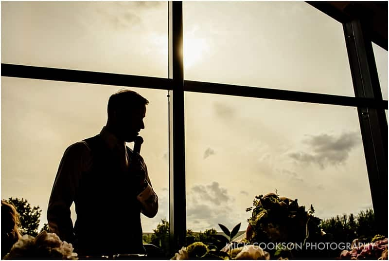 groom silhouette at the fisherman's retreat