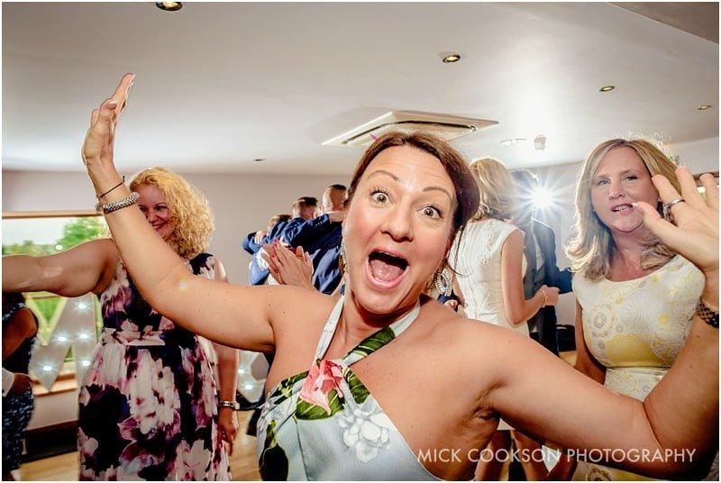 wedding guest on the dancefloor