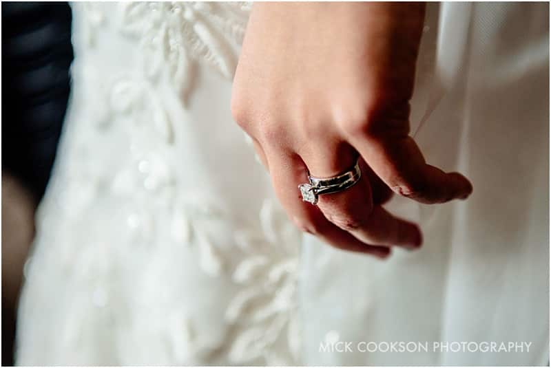 wedding ring on a bride's hand
