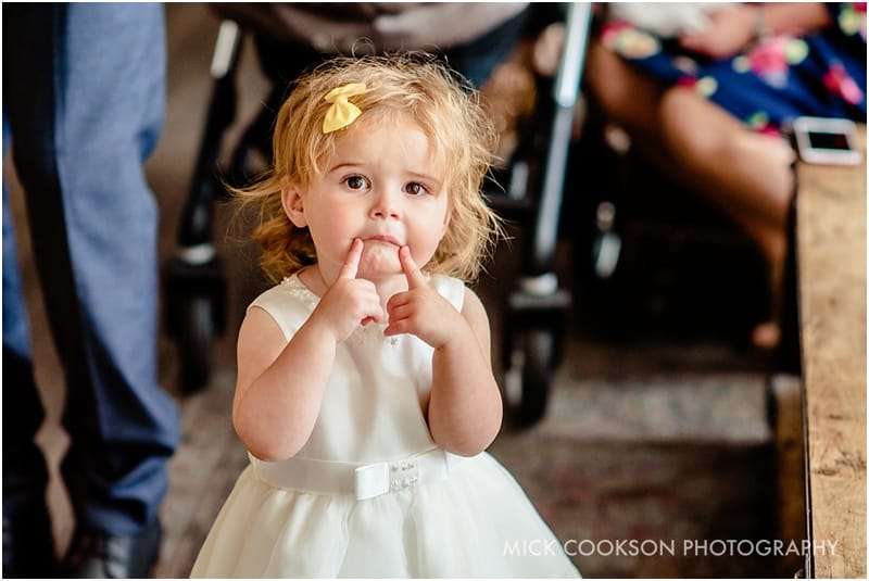 flowergirl at a wedding