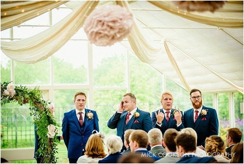 groomsmen at abbeywood estate gardens