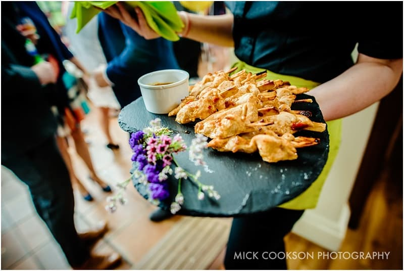 canapes at an abbeywood estate gardens wedding