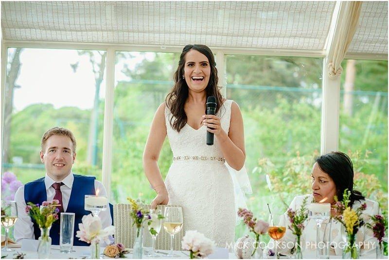 bride speech at a wedding