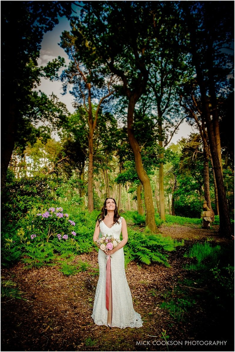 bride photographed at abbeywood estate gardens