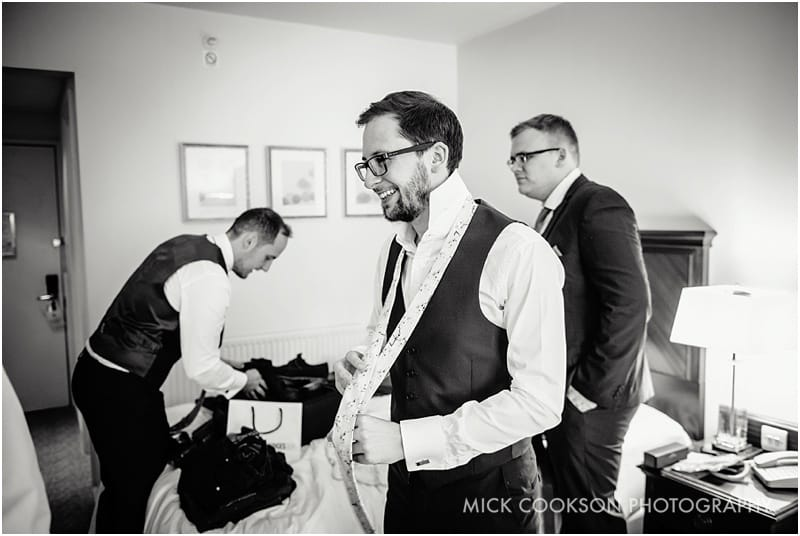 groomsmen at the marriott