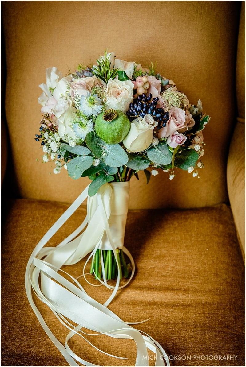 wedding bouquet by flower design lytham