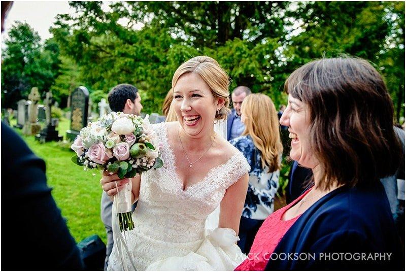 happy bride at her preston wedding