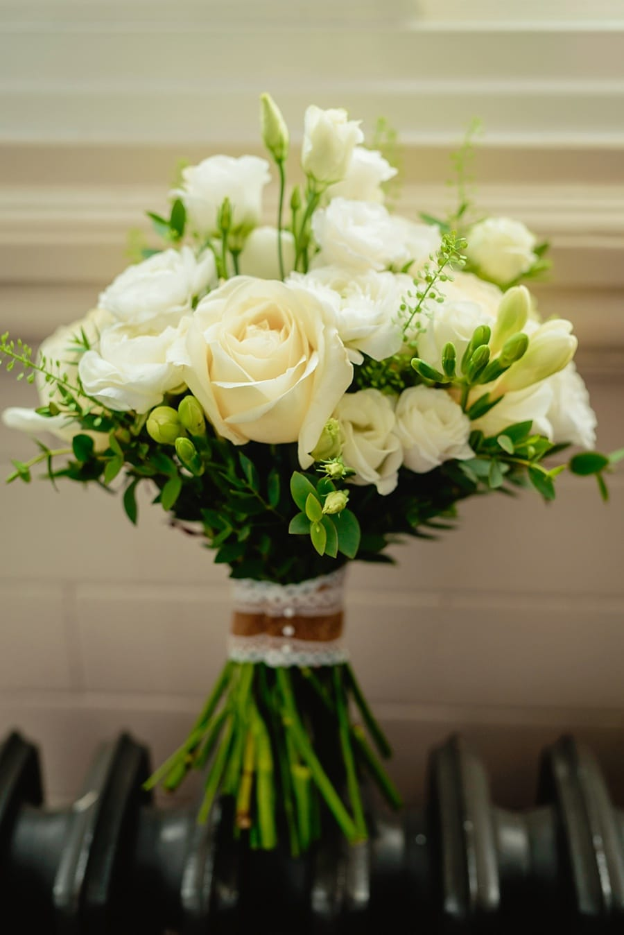 wedding bouquet in the bridal suite at great john street hotel