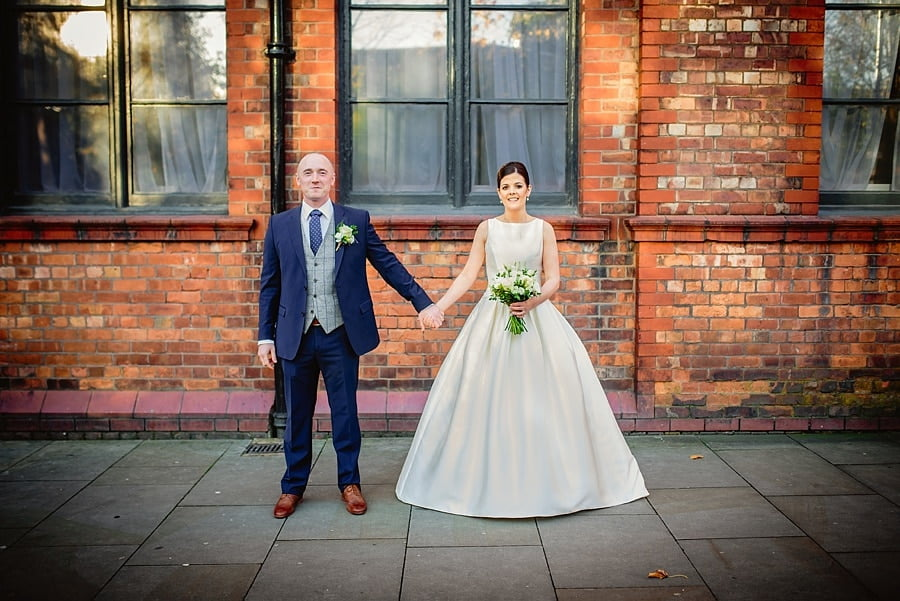bride and groom photo at great john street hotel