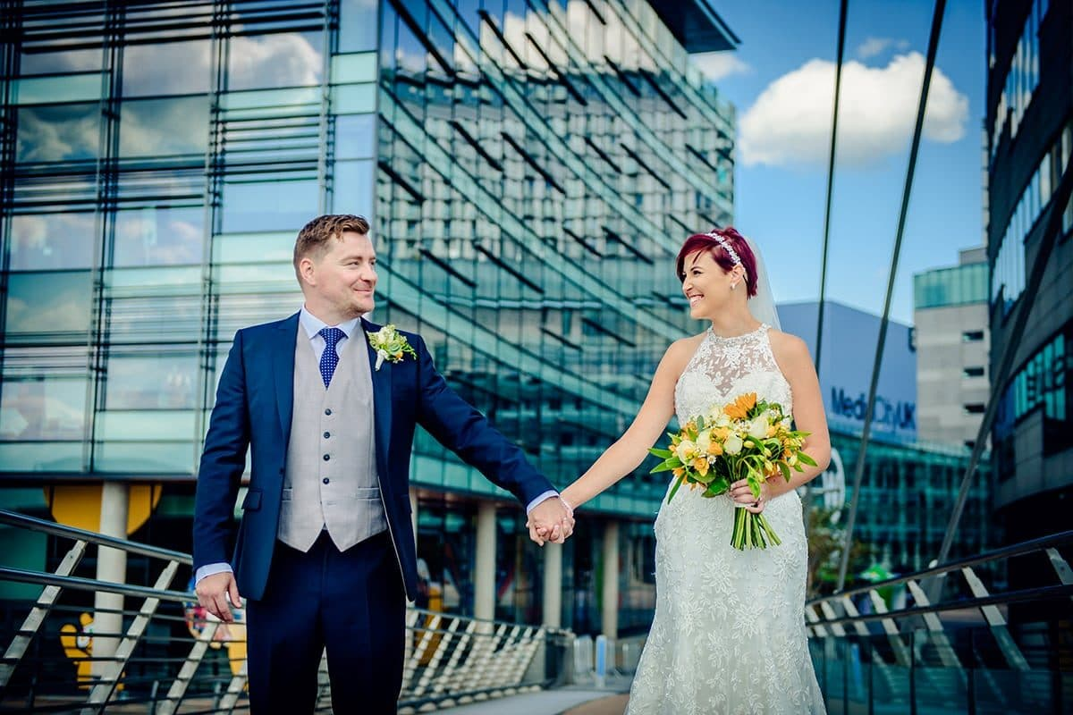 media city wedding photographs