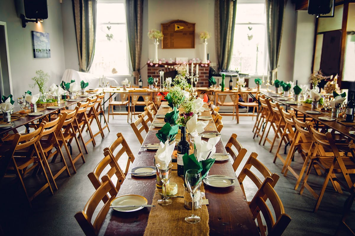 handmade wedding reception