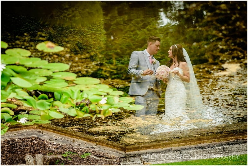 stunning bride and groom photo at mottram hall
