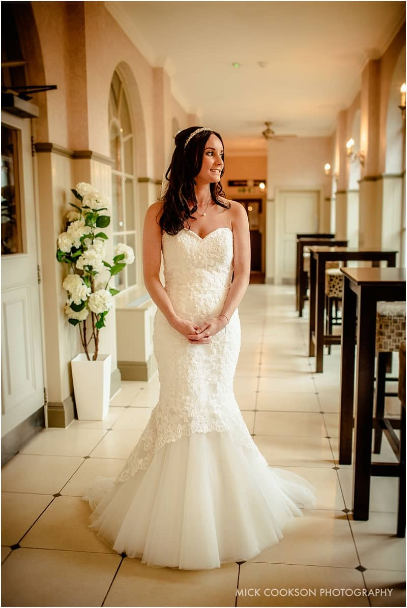 stunning bride photo at mottram hall