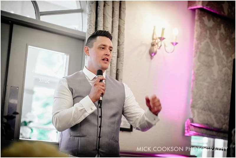 groom speech at mottram hall
