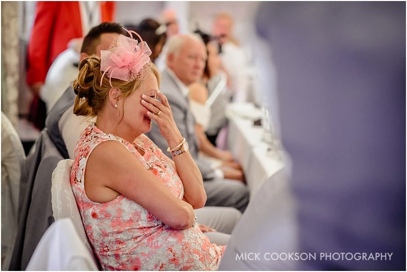 embarrassed mother of the groom at mottram hall